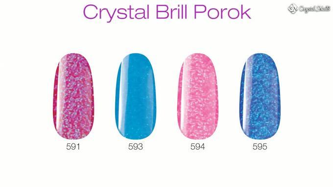 Crystal Brill porcelánporok